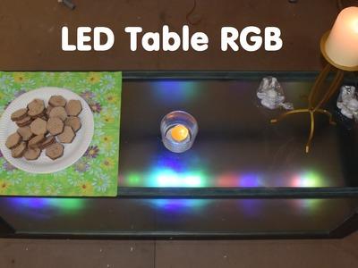 DIY RGB Glass Table LED Illuminated  Tutorial