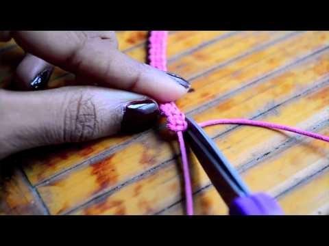DIY Stackable Square Knot Cobra Stitch Bracelets