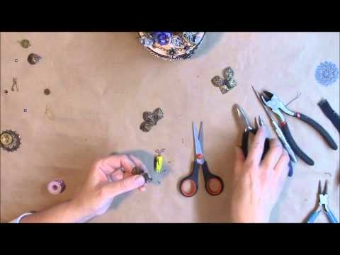 Easy Metal Butterfly Tutorial using metal flowers and zipper pully