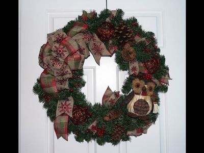 Evergreen Christmas wreath tutorial