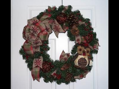 Evergreen Christmas wreath tutorial