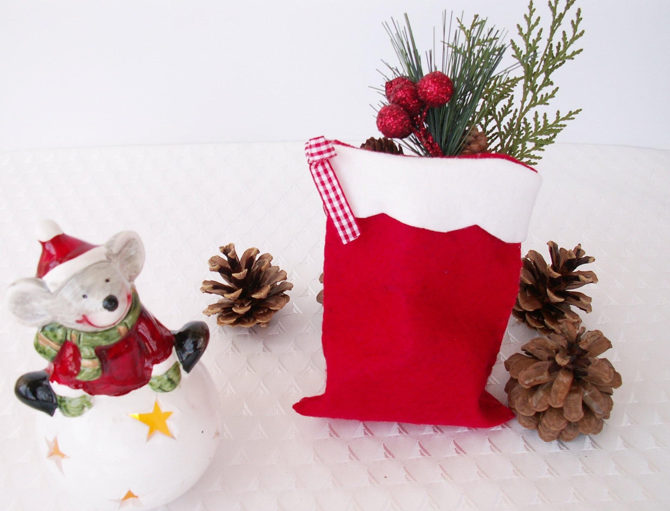 Felt Bag Tutorial (Table Decor-Gift Bag-Utensil Holder).Çok Amaçlı Keçe Kese Yapılışı