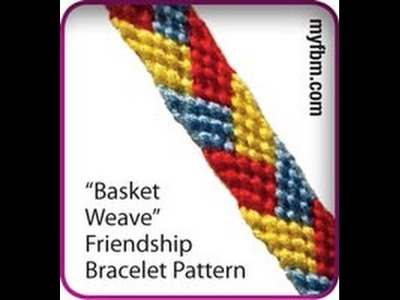 Friendship Bracelet Tutorial Basket Weave Pattern