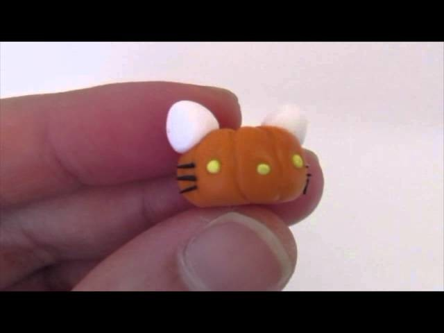 HELLO KITTY Headless Horseman Charm POLYMER CLAY Tutorial
