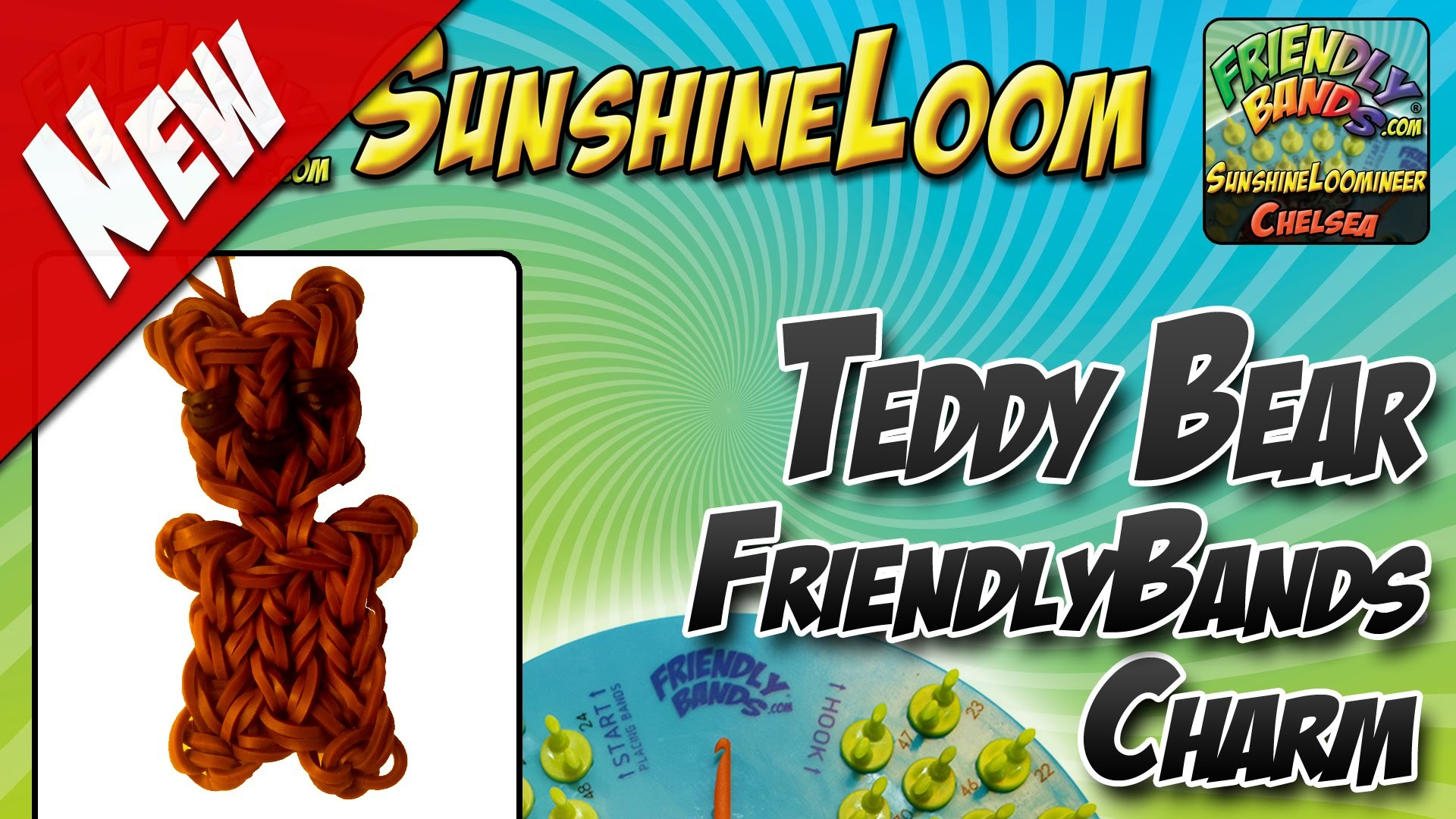 How to Make a FriendlyBands SunshineLoom - Teddy Bear Charm Tutorial