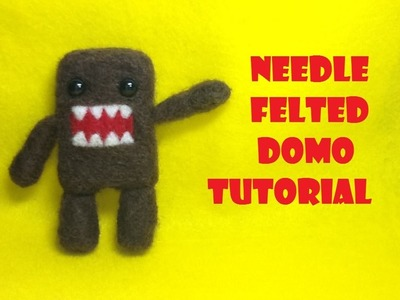 How to Make a Needle Felted Domo Plush- Needle Felting Tutorial
