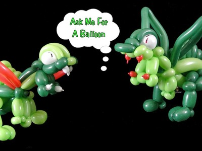 How to Make Dragon Balloon - Balloon Animal Tutorial