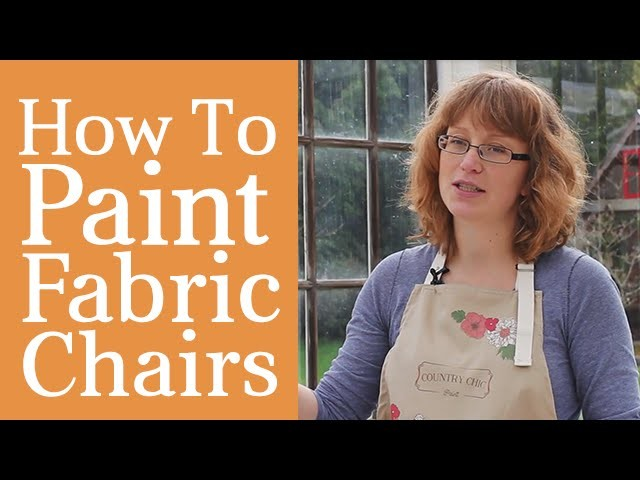 How To Paint A Fabric Chair | Upholstered Furniture Painting Tutorial