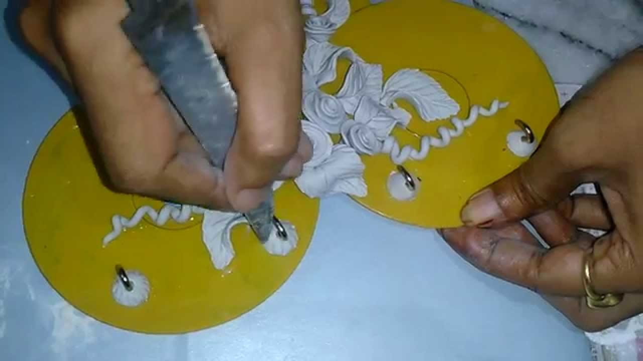 Key Holder Making (Step 8) : How to Decorate Hook from Shilpkar : Tutorial by My Hobby Center