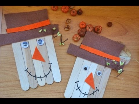 Kid-Friendly Popsicle Stick Scarecrow Tutorial