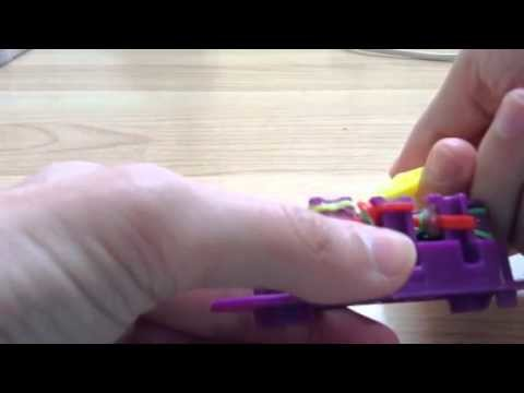 Loom band tutorial Chucky chain necklace on monster tail