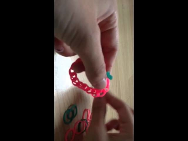 Loom band tutorial doll webbed necklace no loom no hook