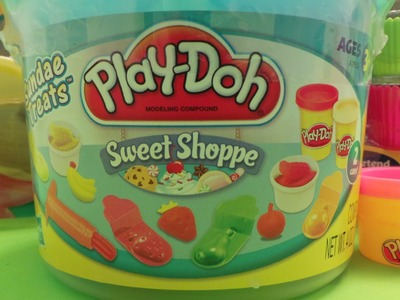 NEW PLAY-DOH SWEET SHOPPE SUNDAE TREATS BUCKET UNBOXING & TUTORIAL