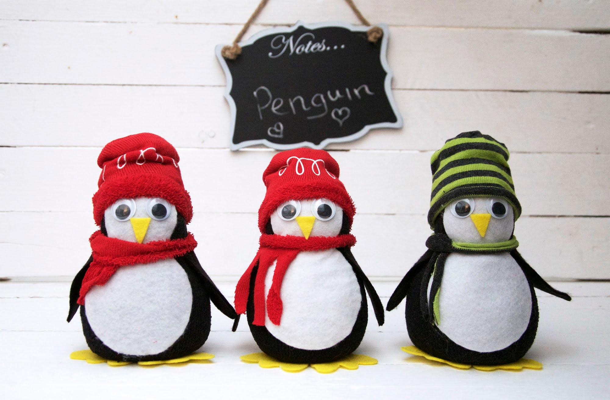 No Sew Penguin Tutorial