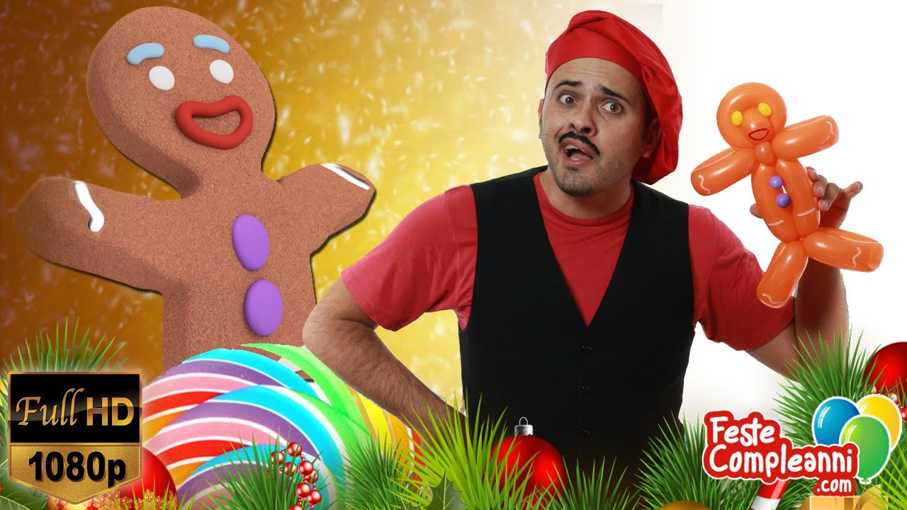 Omino Pan di Zenzero - Decorazioni di Natale  - Tutorial 169 - Feste Compleanni
