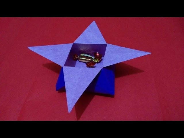 Origami Star Candy Box Tutorial - Best Gift idea - Bowl Easter Box