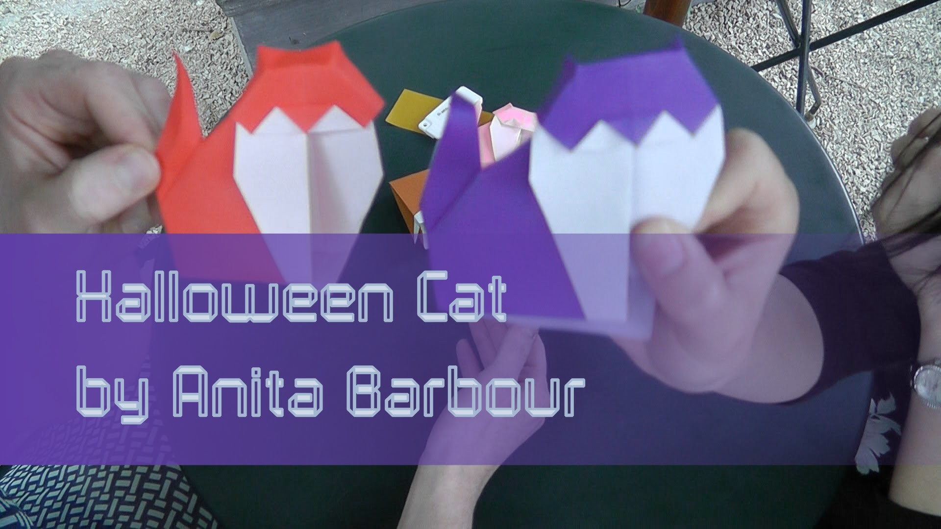 Origami Tutorial: Halloween Cat (Anita Barbour) with Jenny Chan from OrigamiTree.com