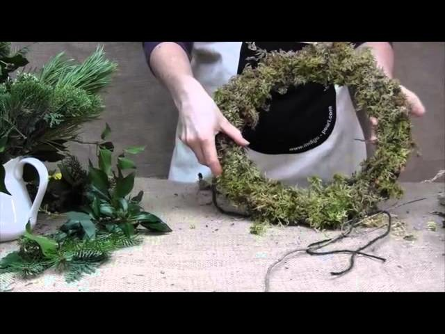 Our Flower Patch Christmas Wreath tutorial.