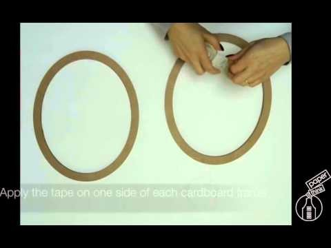 Paper holly wreath tutorial