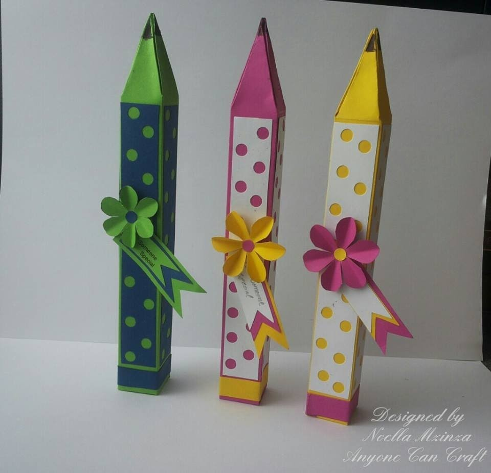 Pencil Shaped Favour Box (printed template tutorial)