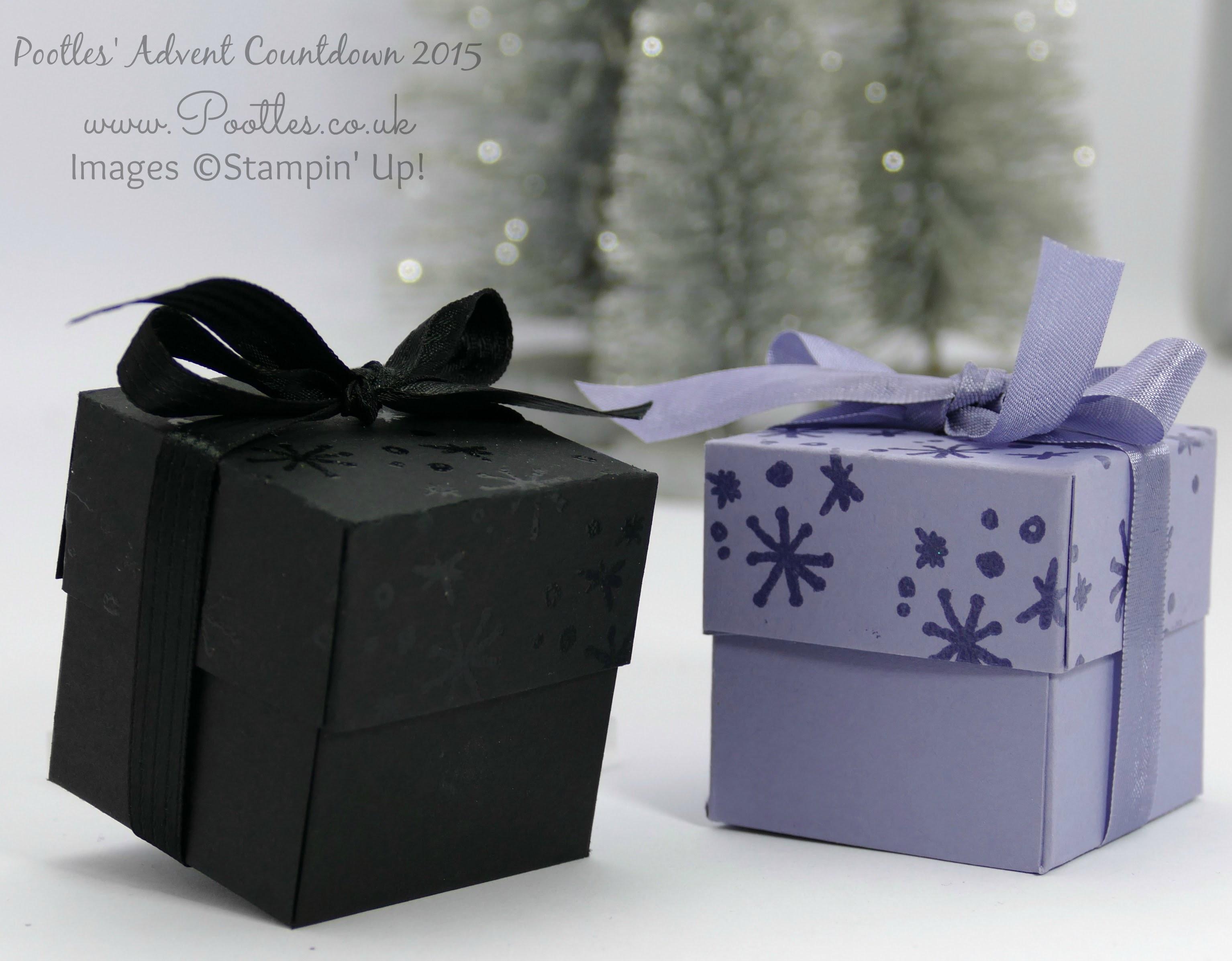 Pootles Advent Countdown #12 Heat Embossed Pretty Box Tutorial