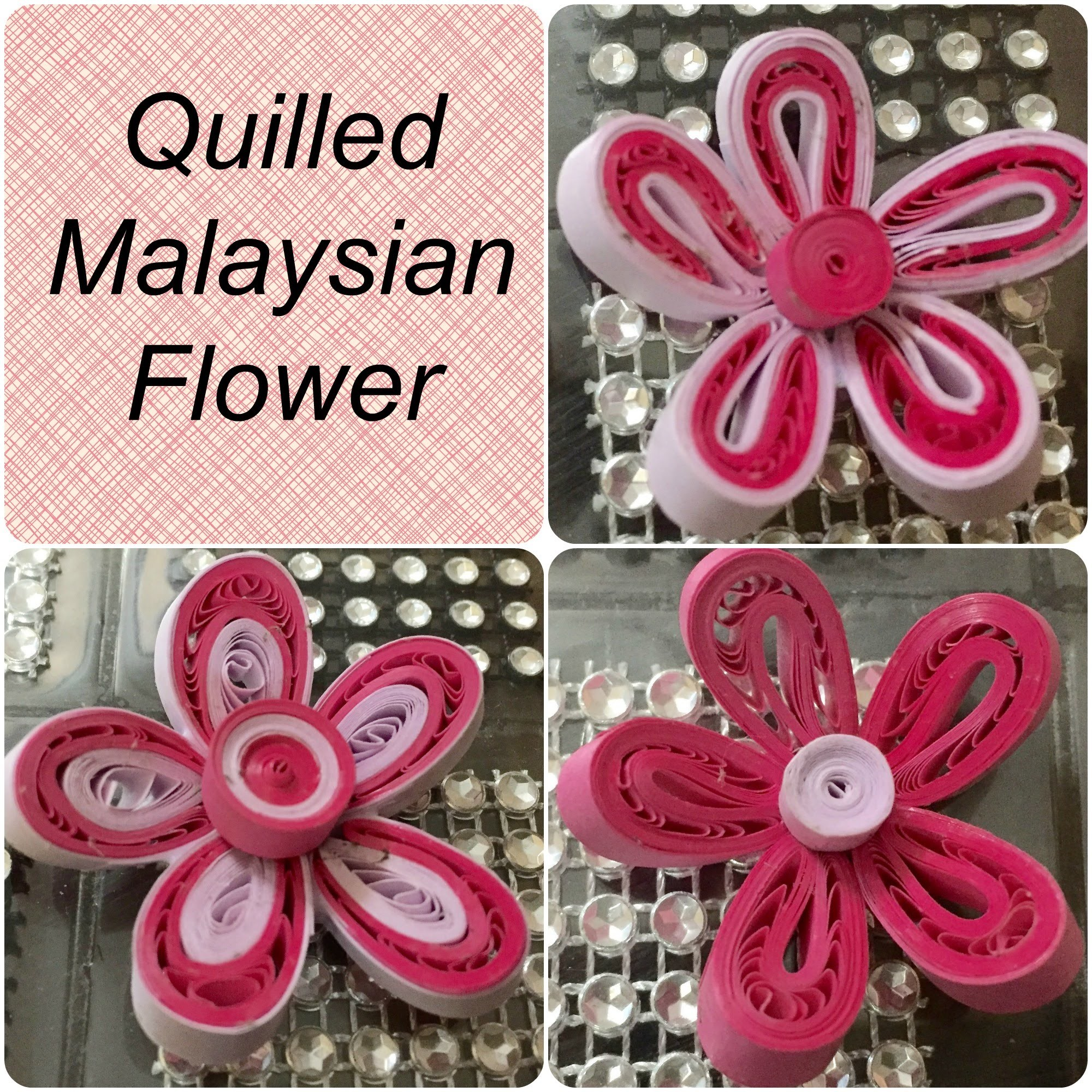 Quilling Malaysian Flower tutorial - 3 Different Variations #8
