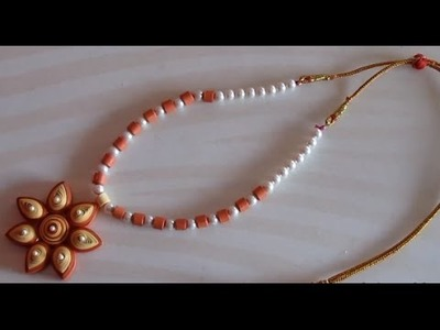 Quilling Necklace tutorial - How to make a Quilling Necklace by yourself