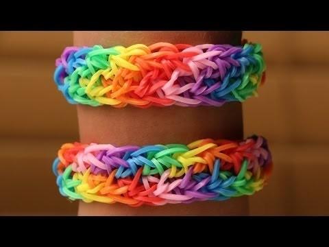 Rainbow Loom Nederlands   Double Rainbow    Loom bands, rainbow loom, tutorial, holiday bracelet
