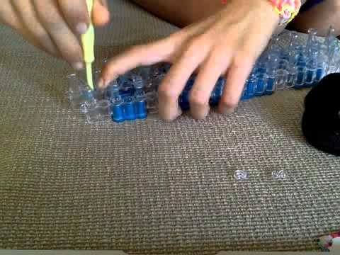 Rainbow loom single chain.original rainbow loom bracelet tutorial