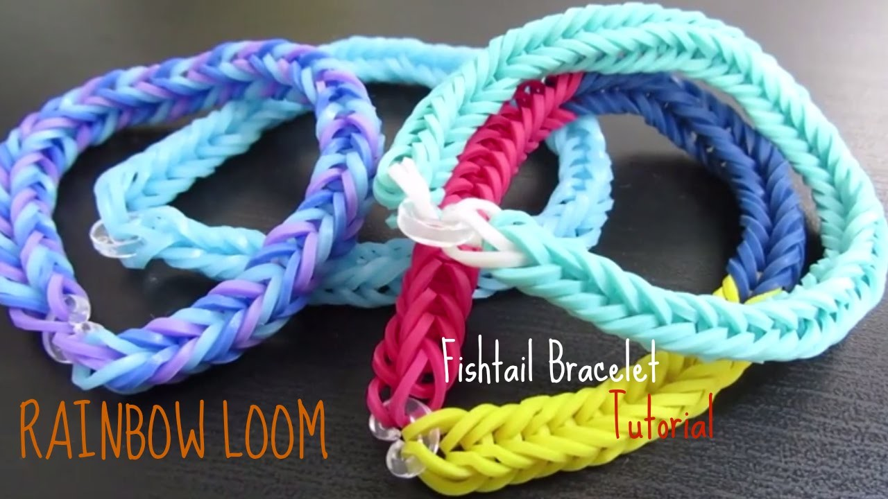 Rainbow Loom Tutorial - How To Make a Fishtail Bracelet!