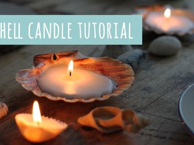 Sea shell candle, how to make tutorial