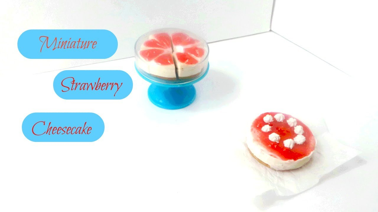 Simple Miniature Strawberry Cheesecake - Polymer Clay Tutorial