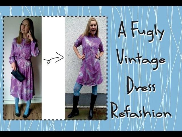 The Fugly Vintage Dress Refashion Tutorial