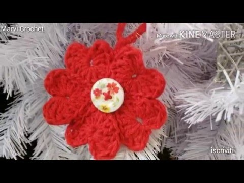 Tutorial ghirlanda di cuori uncinetto ,tutorial crochet wreath heart