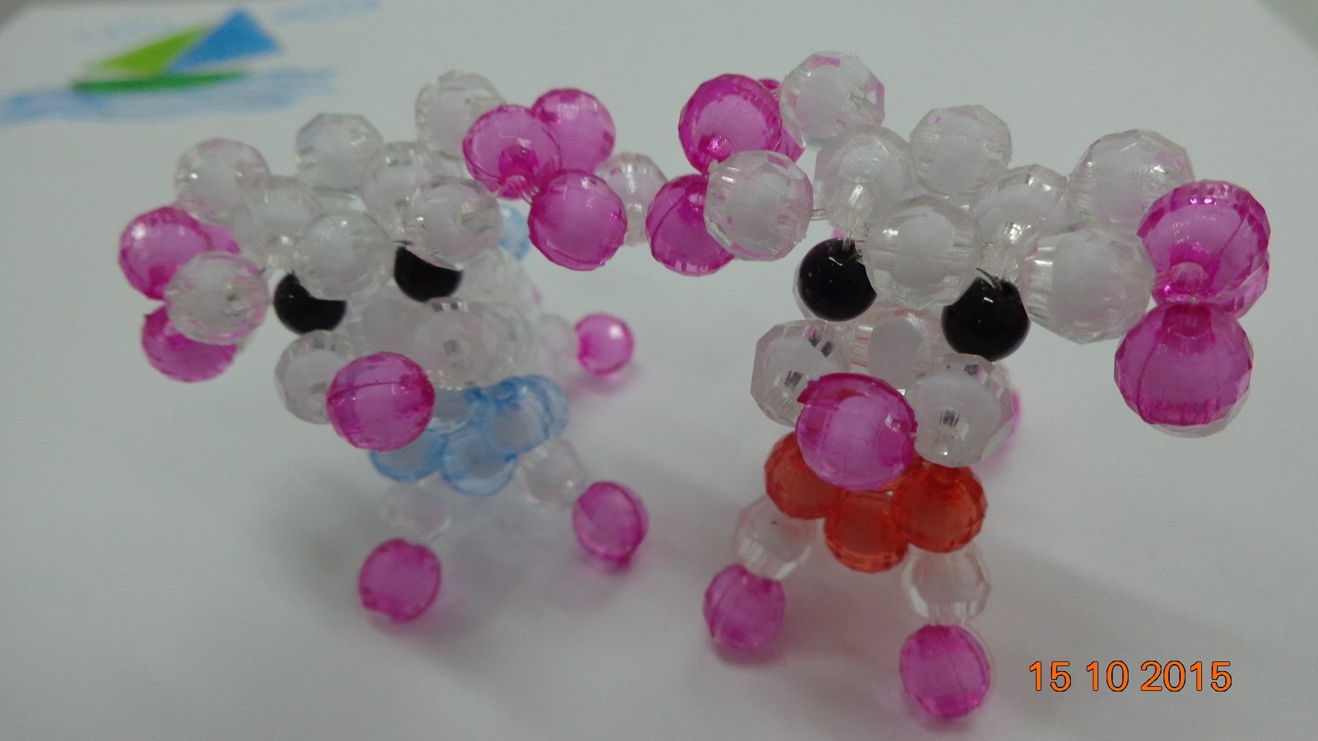 Tutorial How to Make a Beaded  dog- part 2 -hướng dẫn kết cườm