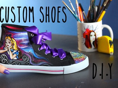 Tutorial: How to Paint Shoes! PAINT BLING & CUSTOMIZE Pinterest Tumblr How to