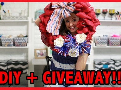 WREATH TUTORIAL + GIVEAWAY!!!