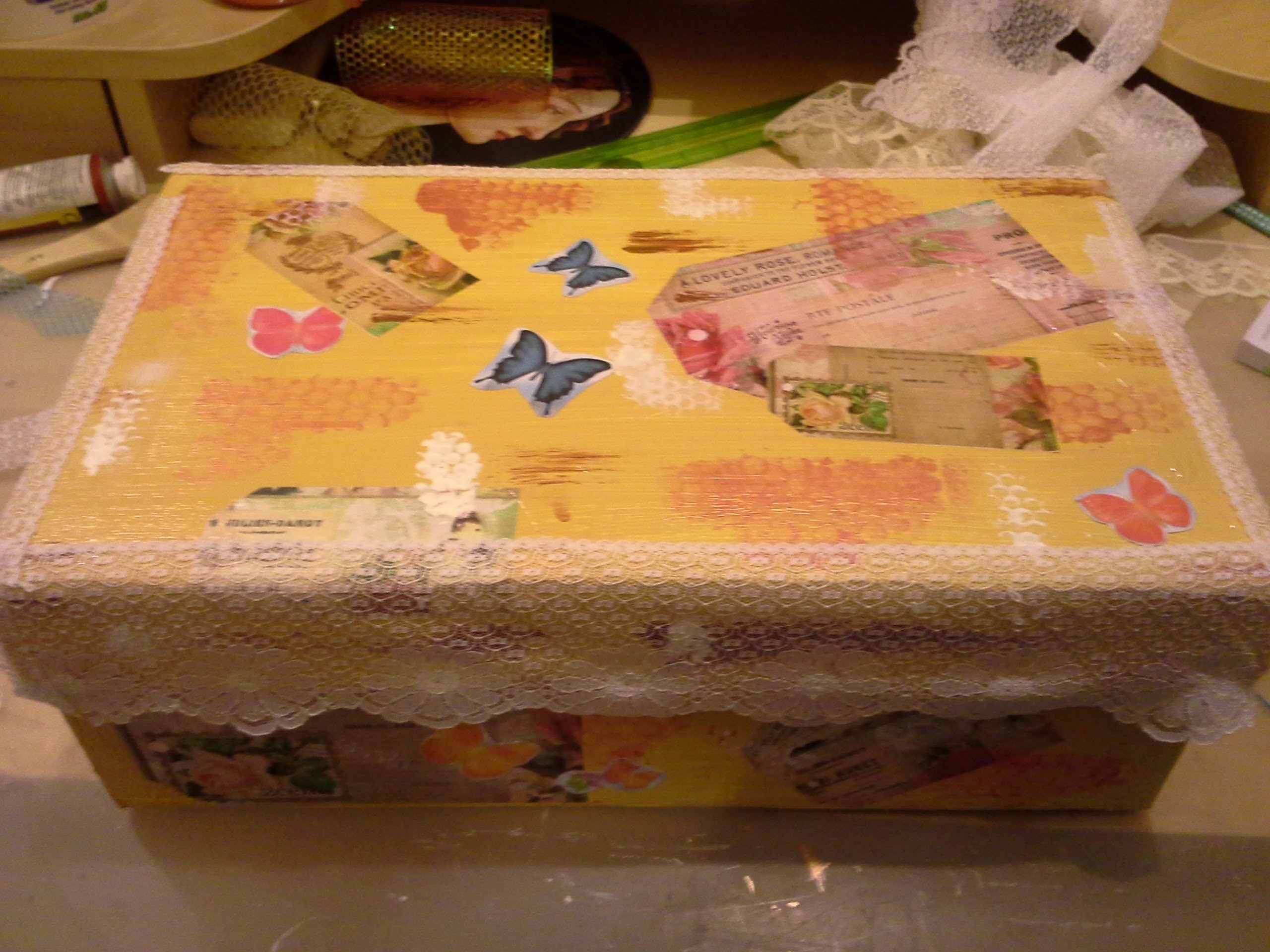 Altered Shoe Box Series- Tutorial No1