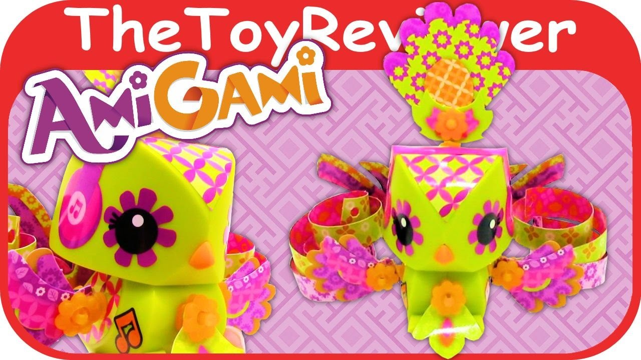 AmiGami Bird Figure House Hole Punch Crimper Origami Unboxing Tutorial by TheToyReviewer
