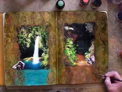 Art Journaling Tutorial Tim Holtz,Viva Decor,Ranger Products
