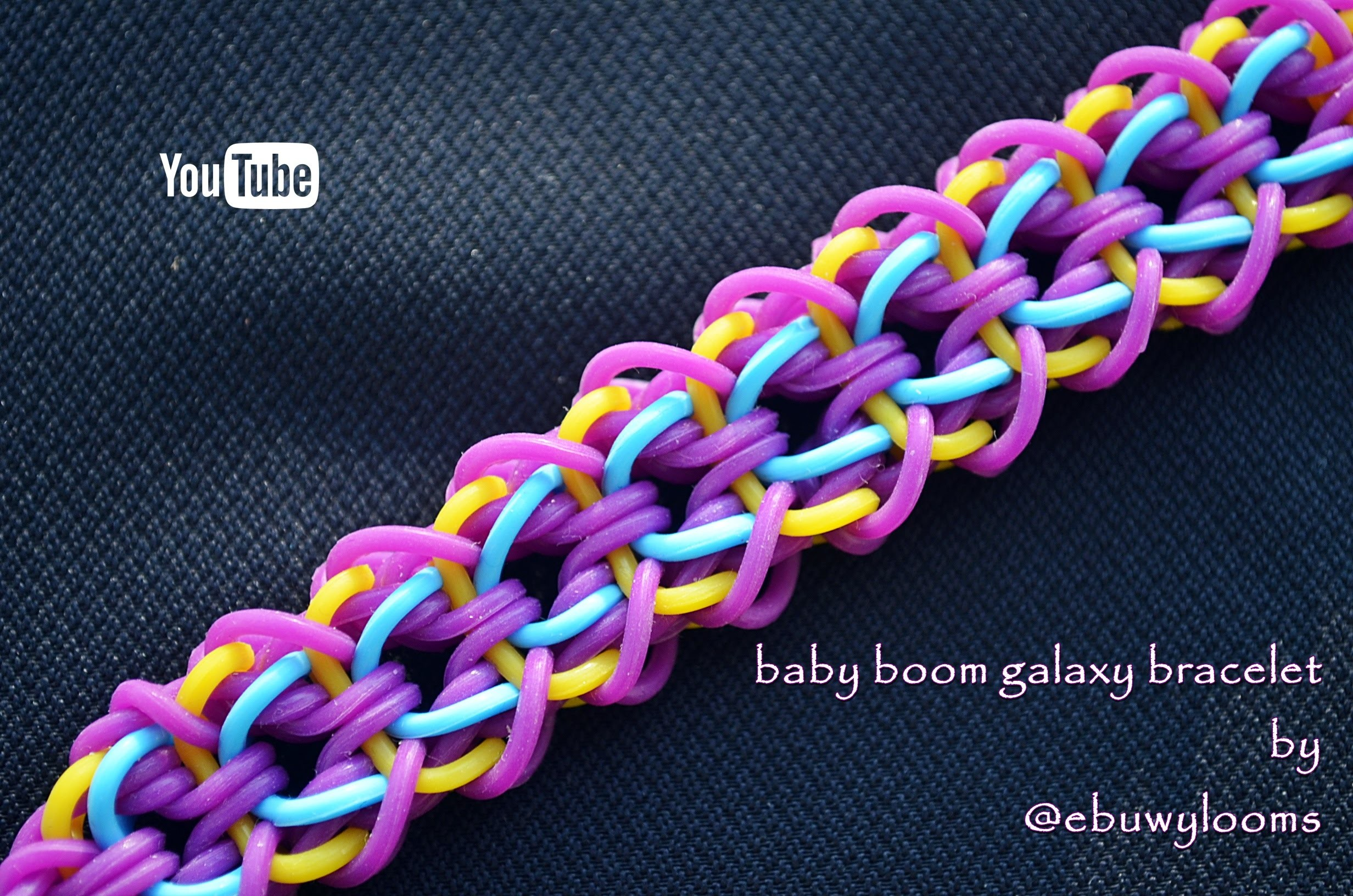 BABY BOOM GALAXY BRACELET HOOK ONLY DESIGN TUTORIAL