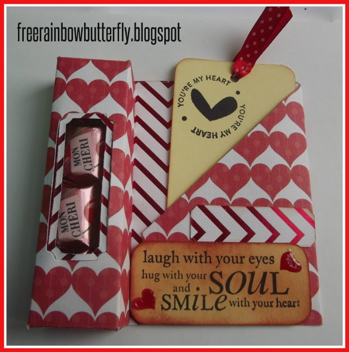 Candy box con tag ( tutorial san Valentino )