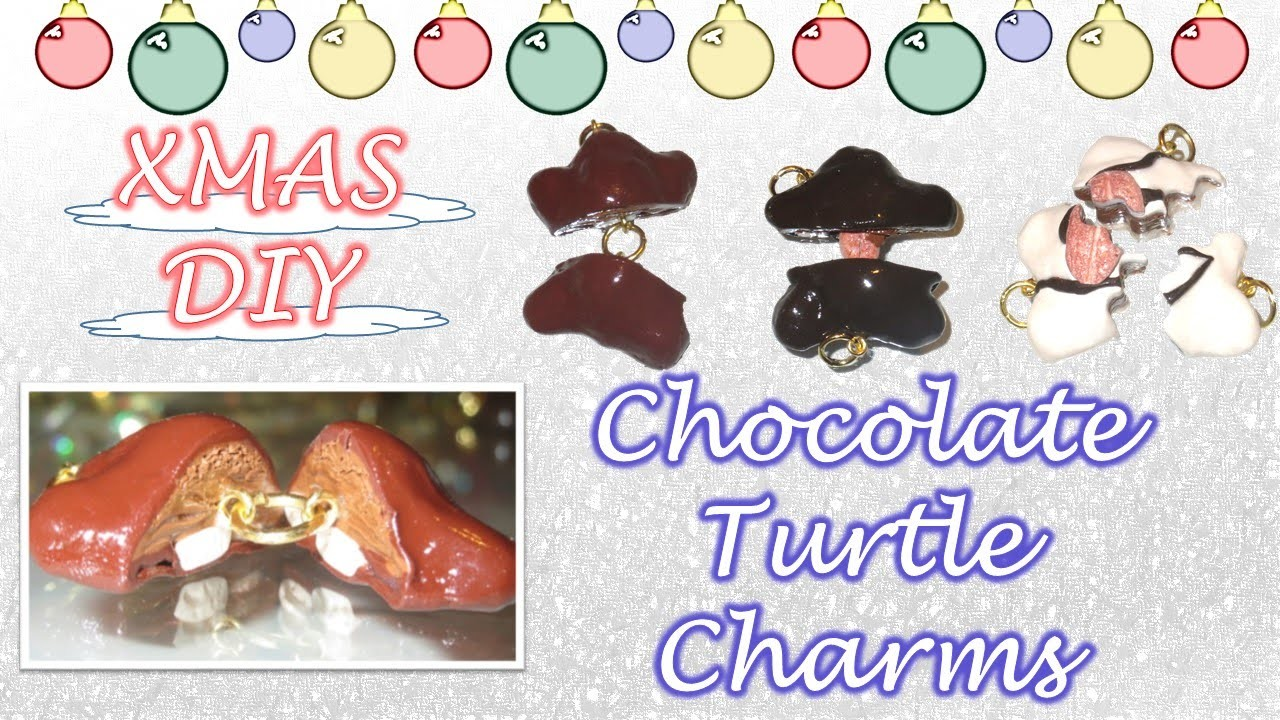 Chocolate Turtle Charms Tutorial: Polymer Clay DIY