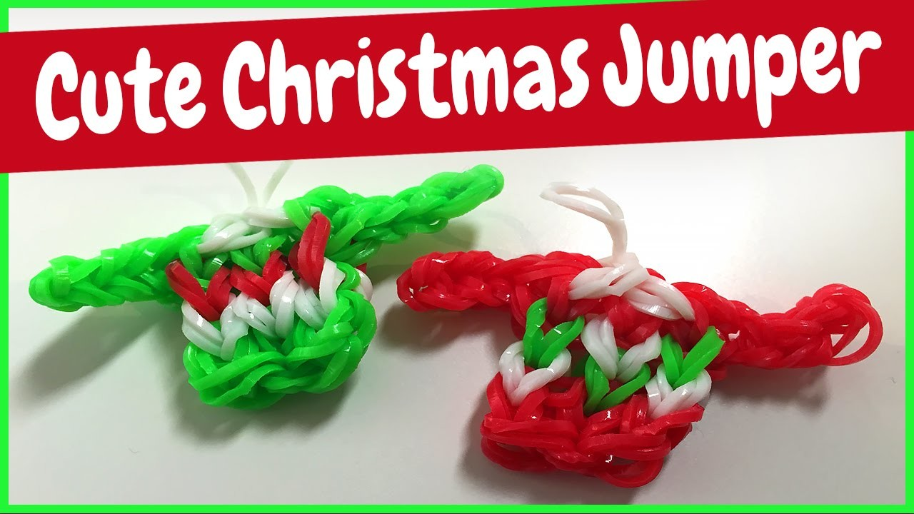 Cute Christmas Jumper - Rainbow Loom Tutorial