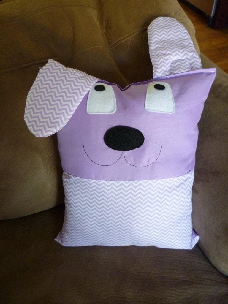 Cute Kids Puppy Pillow | Purple Floppy Eared Puppy | Video Tutorial