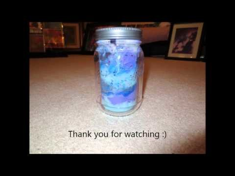 DIY Glow in the Dark - Stars in a Jar Project! Galaxy Nights