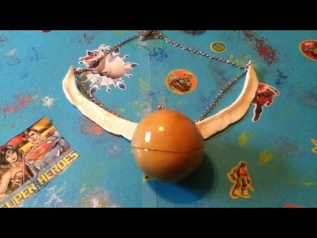 DIY Golden Snitch Necklace.Charm