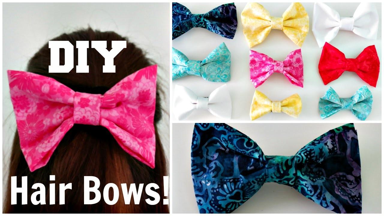 DIY Hair Bow(No-Sew) | Madison K