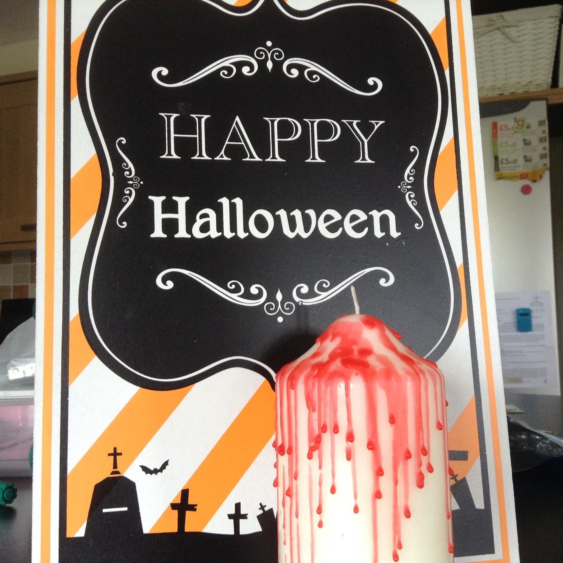 DIY Halloween Room Decor ~Bloody Candle!