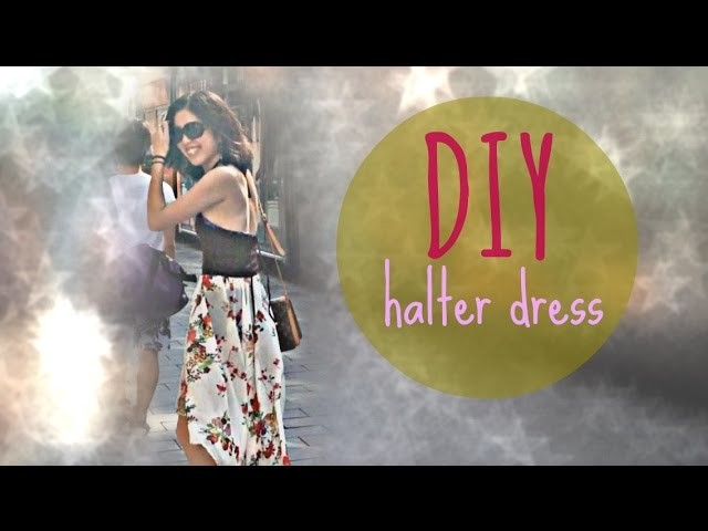 DIY halter dress